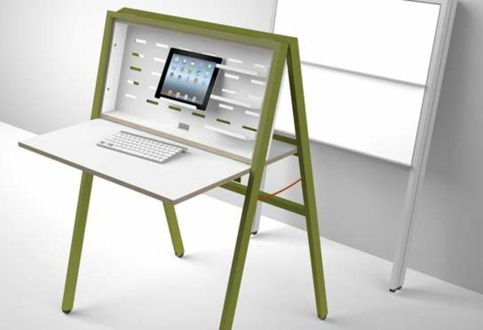 joli-bureau-pliable-bureau-rabattable-en-bois-comment-organiser-office-space
