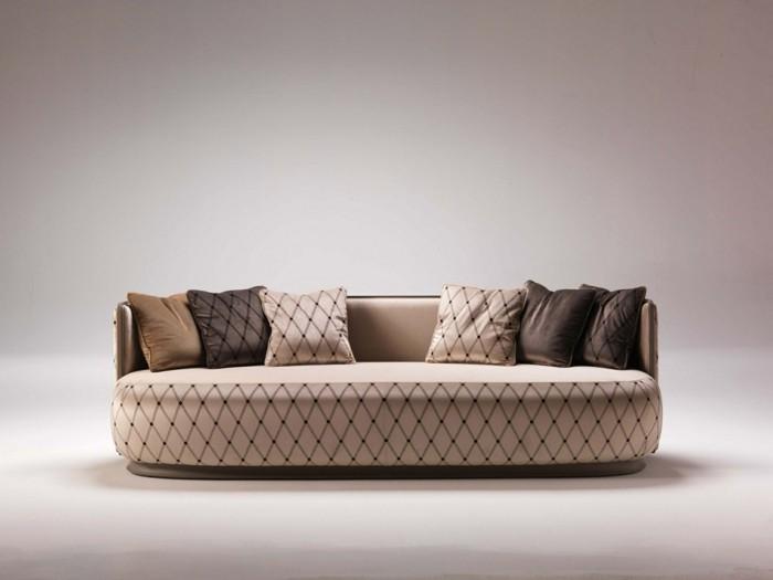 Le canap design italien en 80 photos pour relooker le salon - Coussins cuir pour canape ...