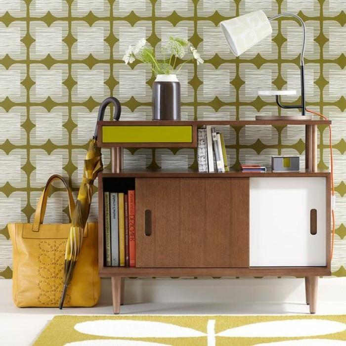 joli-couloir-idees-papier-peint-pour-couloir-beige-et-vert-nos-idees-pour-votre-couloir