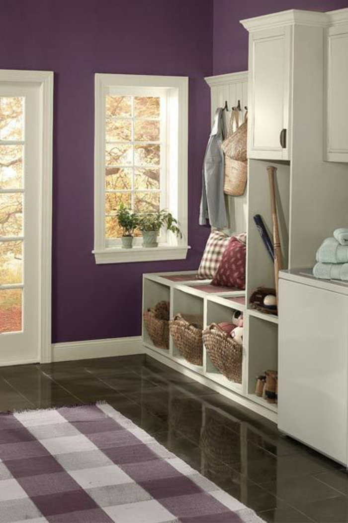 couleur pour une entre gallery of des couleurs chaudes pour une entre pleine de caractre. Black Bedroom Furniture Sets. Home Design Ideas