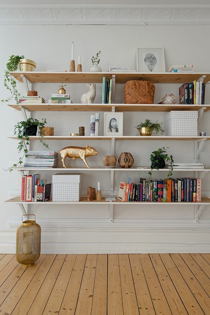 L tag re biblioth que comment choisir le bon design - Etagere en bois a faire soi meme ...