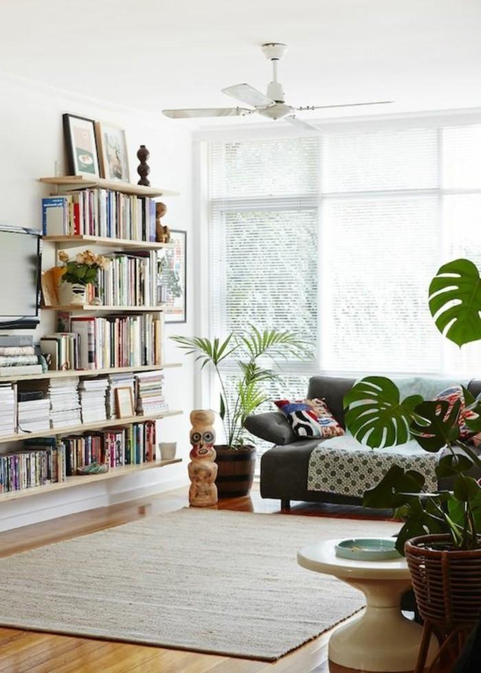 joli-etagere-facile-a-fabriquer-vous-memes-étagère-bibliothèque-en-bois-blanc-tapis-beige