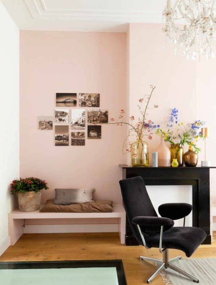 mur de couleur salon meilleures images d 39 inspiration pour votre design de maison. Black Bedroom Furniture Sets. Home Design Ideas