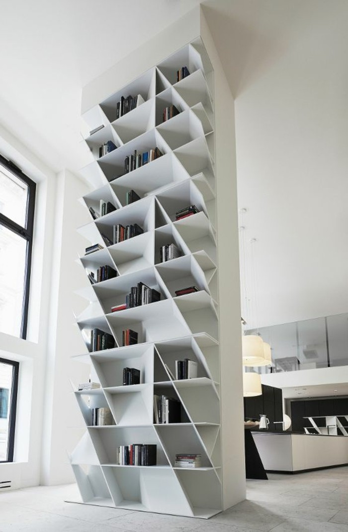 L tag re biblioth que comment choisir le bon design for Etagere murale bois brut