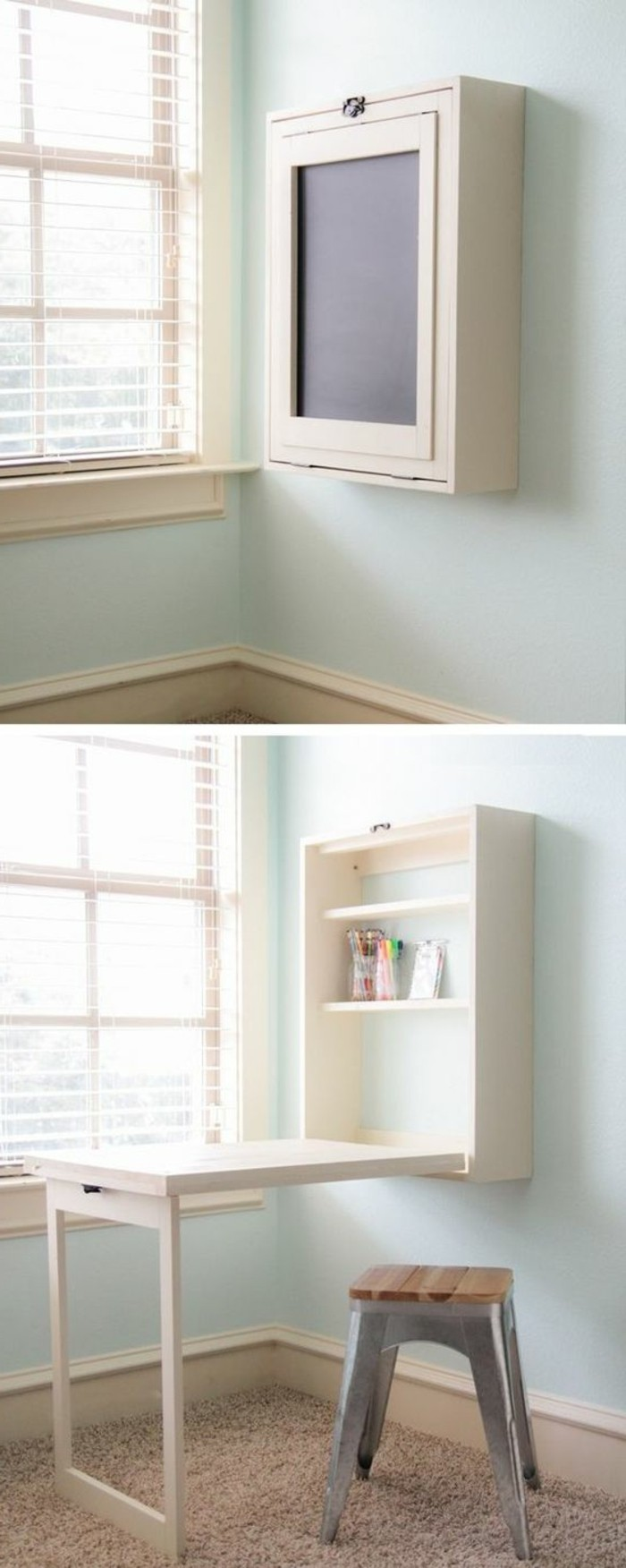 bureau design bois clair. Black Bedroom Furniture Sets. Home Design Ideas