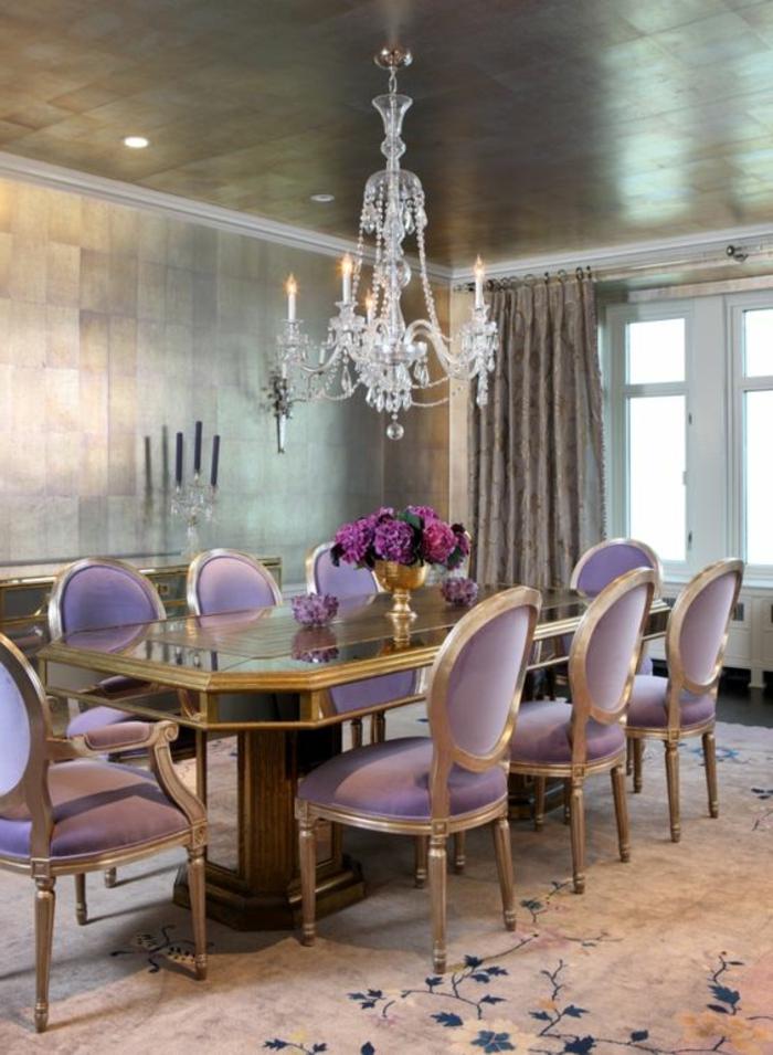 80 id es d 39 int rieur pour associer la couleur prune for Salle manger baroque