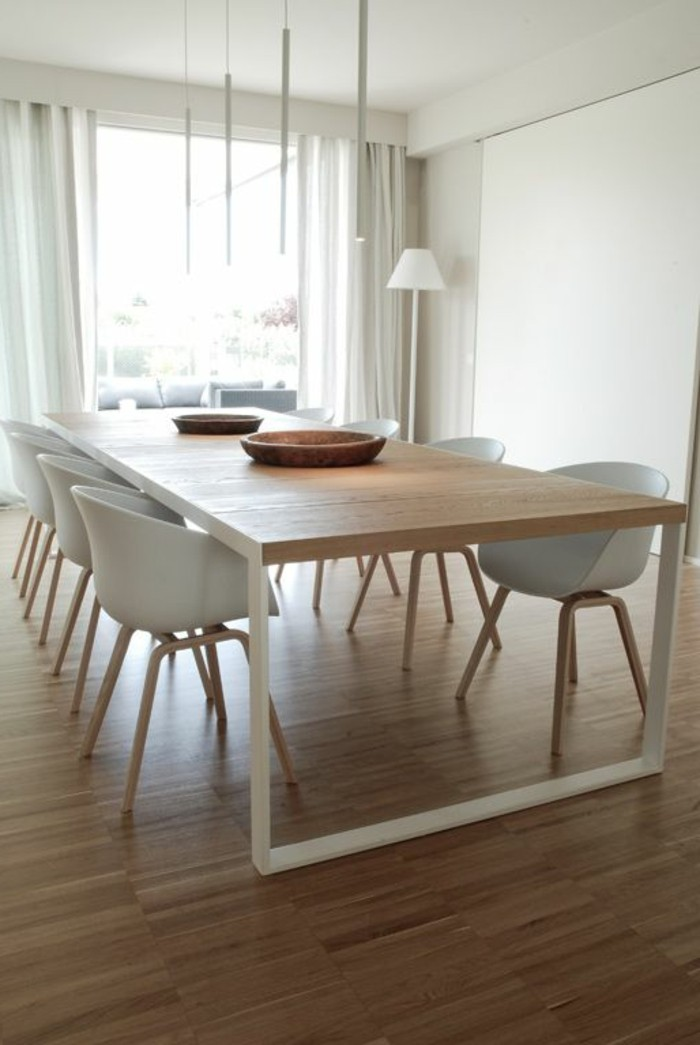 Grande table carree salle manger maison design for Table a manger design