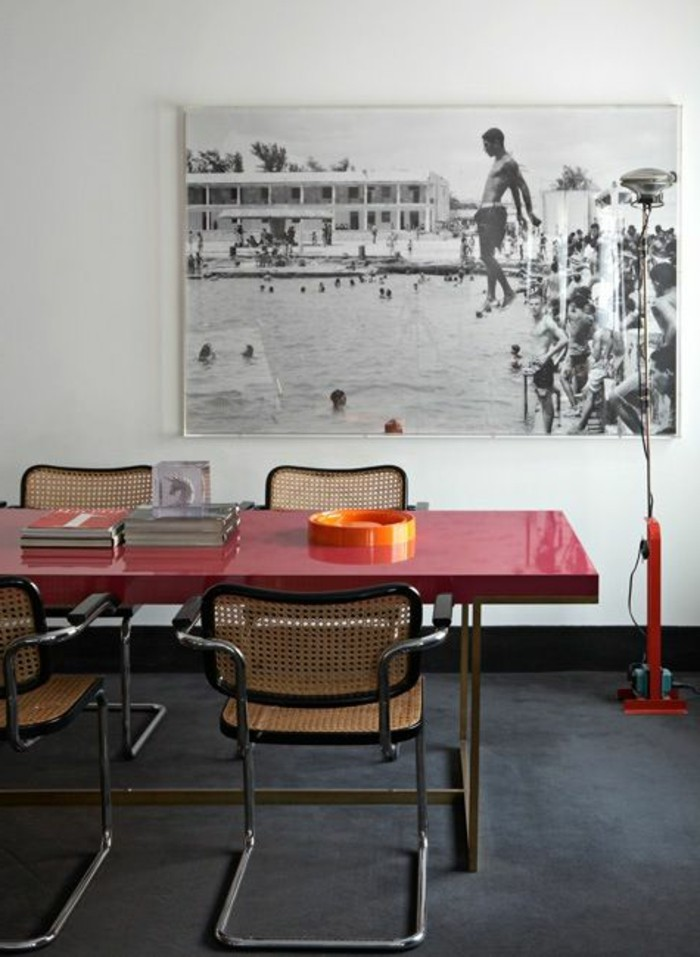 La meilleure table de salle manger design en 42 photos for Chaise de salle a manger rouge