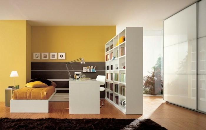 l-amenagement-chambre-a-coucher-jaune-idee-cool