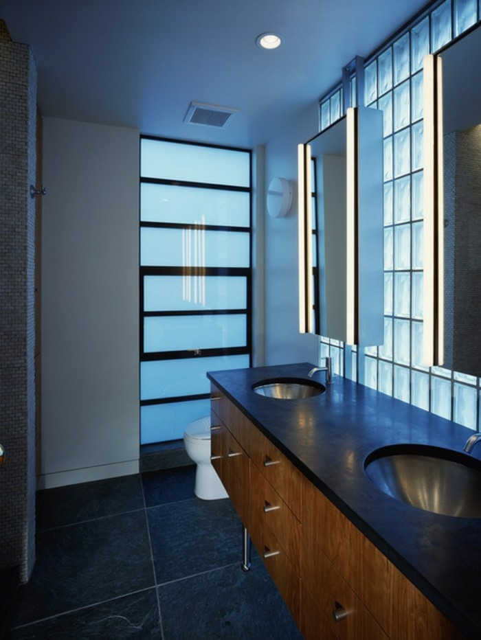 Le pav de verre voir les meilleures id es for Vasque verre salle de bain