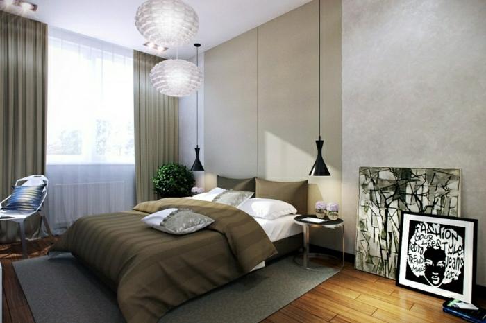 la-suspension-luminaire-leroy-merlin-luminaires-design-lustre-plume-ambiance-une-chambre-à-coucher