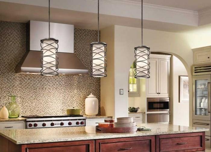 le-plafonnier-design-luminaires-suspension-salle-de-sejour-bien-aménagée-cuisine-carrelage