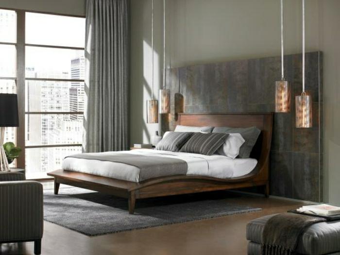 le-plafonnier-design-luminaires-suspension-salle-de-sejour-bien-aménagée-une-chambre-à-coucher-grise