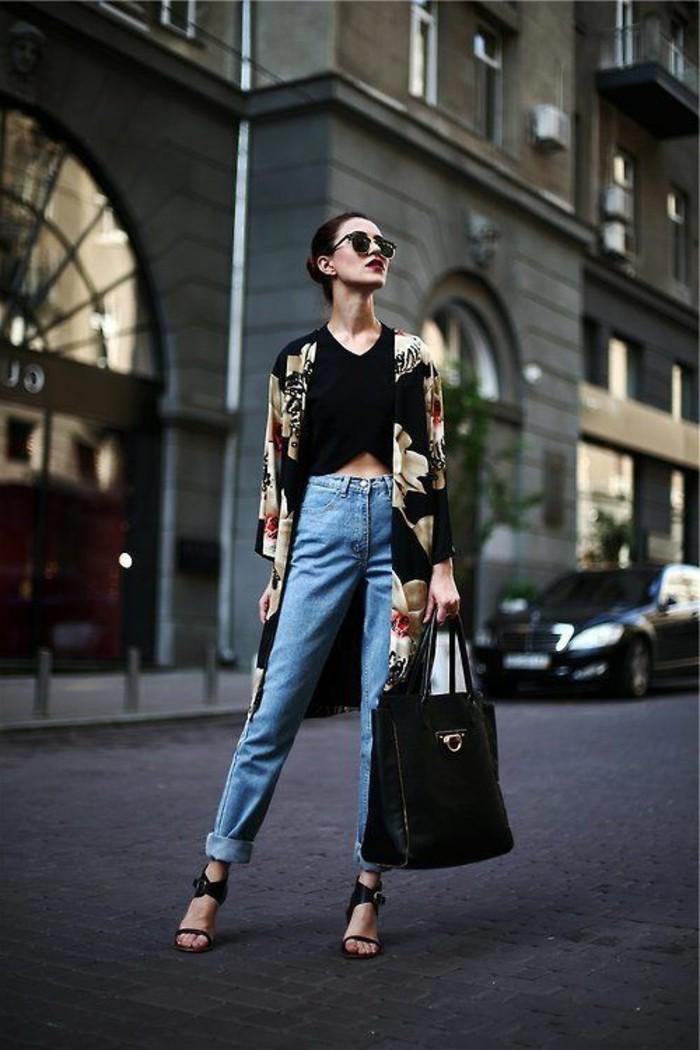 le-veste-kimono-femme-kimono-noir-veste-courte-idée-diy-en-été-belle-moderne
