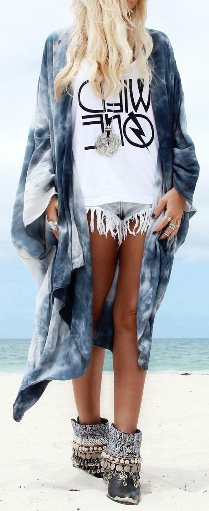 le-veste-kimono-femme-kimono-noir-veste-courte-idée-diy-en-été-plage