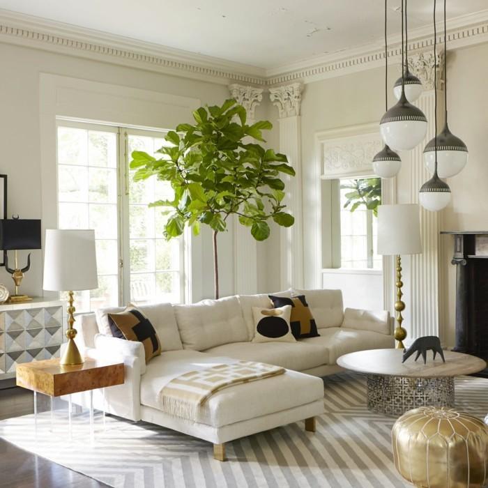 luminaires-suspensions-luminaire-suspension-pas-cher-salon-aménagement-beau-en-blanc