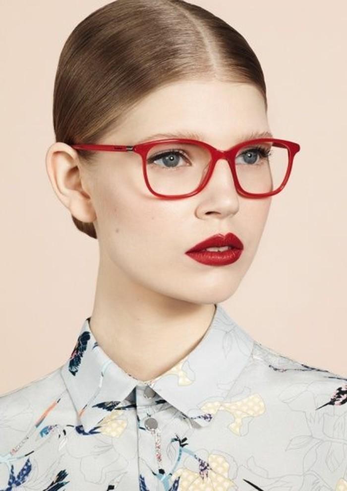 lunette-de-vue-sans-correction-monture-de-lunettes-pas-cher-de-couleur-rouge
