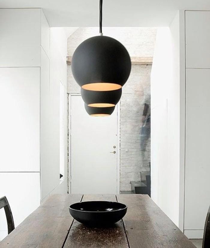 lustres-design-en-noir-les-meilleurs-luminaires-salle-à-manger-contemporaine