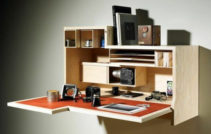 meuble-pliable-mural-en-bois-clair-bureau-mural-rabattable-en-bois-clair