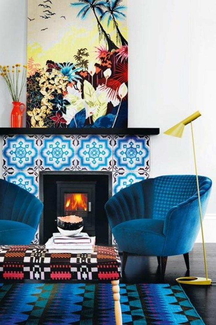 meubles-de-salon-couleur-complémentaire-du-bleu-salon-couleur-bleu-meubles