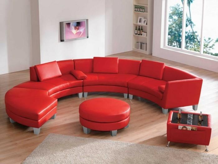 Le canap d 39 angle arrondi comment choisir la meilleure for Meuble salon rouge