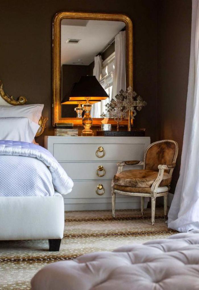 miroir-doré-chambre-à-coucher-à-déco-baroque