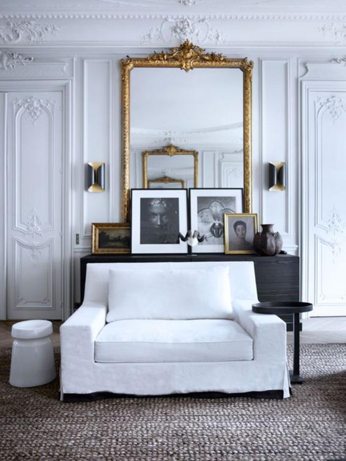 miroir-doré-déco-vintage-d'espace-encadrement-miroir-baroque