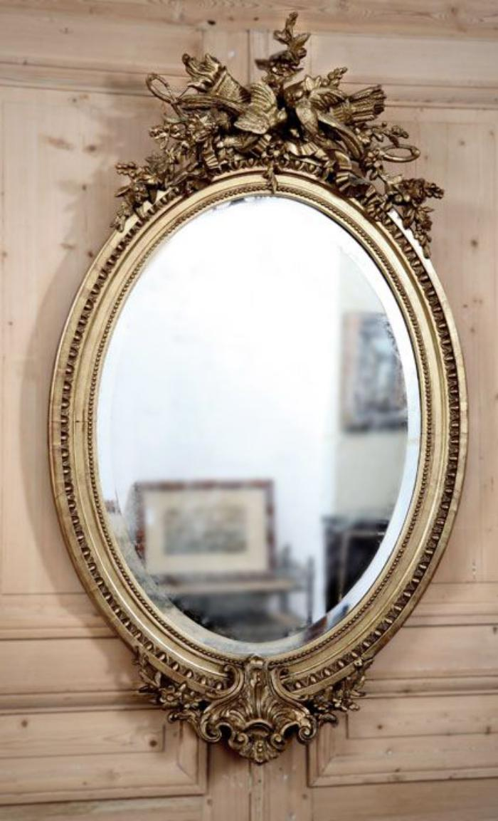 Le miroir dor en 40 photos for Grand miroir blanc baroque