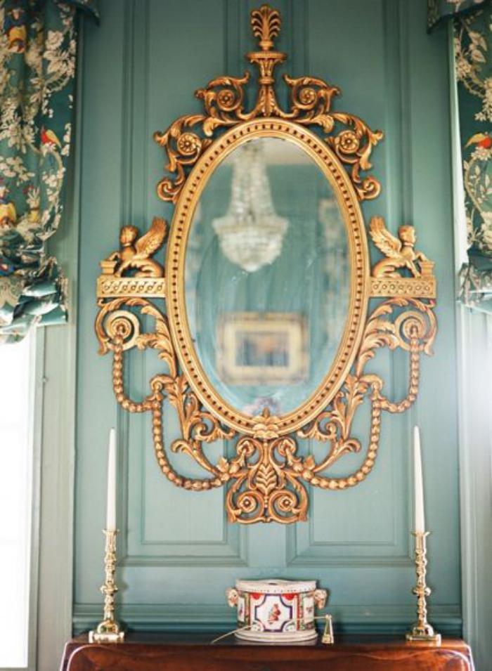 miroir-doré-victorien-objet-déco-vintage-magnifique