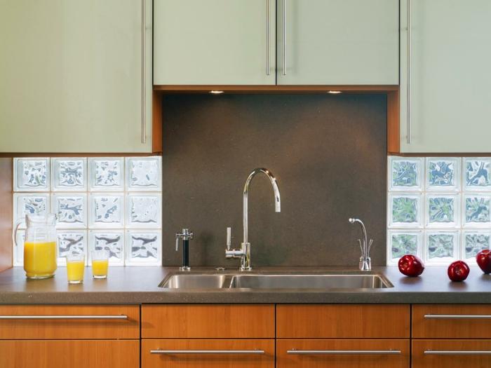 Cuisine contemporaine cuisine contemporaines - Brique de verre cuisine ...