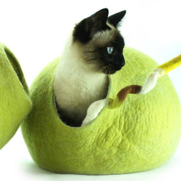 niche-pour-chat-abri-pour-chat-en-laine-feutrée