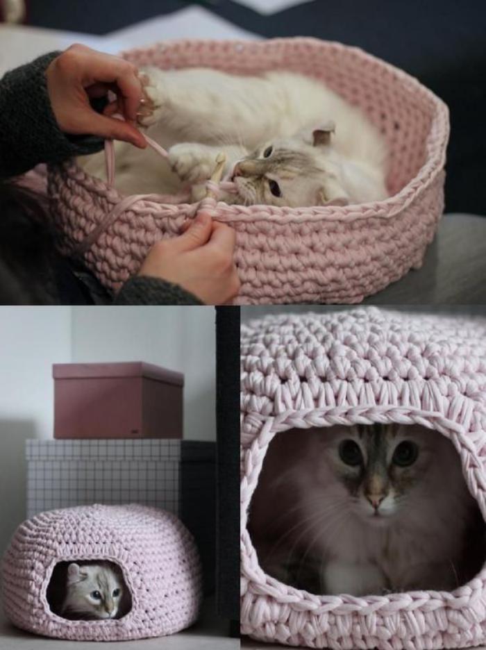niche-pour-chat-belle-niche-pour-chat-au-tricot