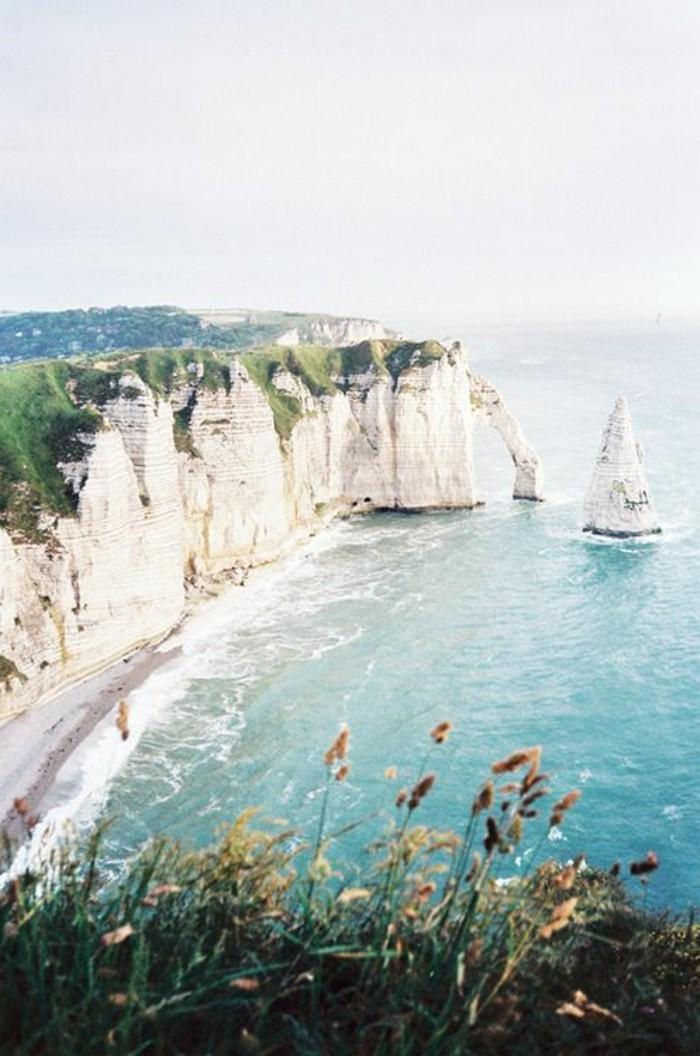 normandie-france-sable-blanc-belle-vue-ocean-bleu-jolie-vue