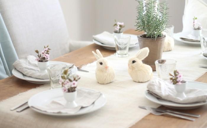oeufs-de-pâques-décoration-de-pâques-decoration-pour-paques-lapins-blanches