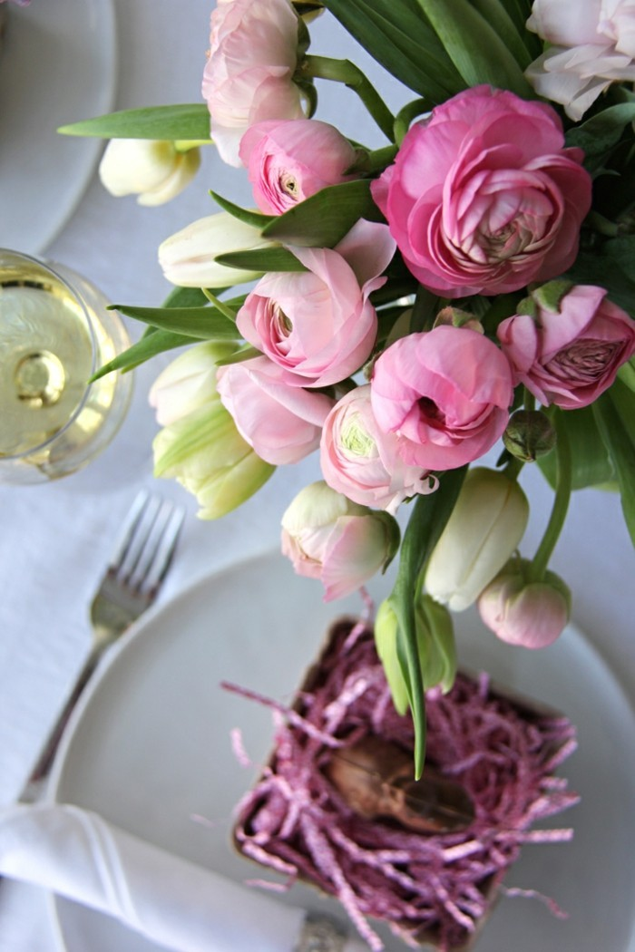 photos-de-pâques-deco-table-paques-fabrication-oeuf-de-paques-les-fleurs