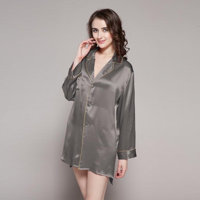 pyjama femme en soie affordable chemise de nuit femmes soie pyjamas shirt pantalons hot spr. Black Bedroom Furniture Sets. Home Design Ideas