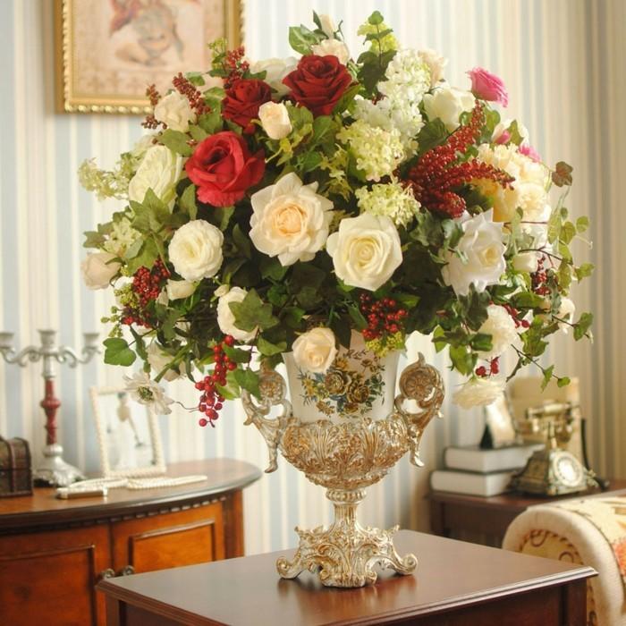 Bouquet fleurs blanches artificielles - Sia fleurs artificielles ...