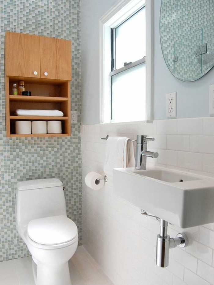 L armoire de toilette quel design choisir et quel mat riau for Photo salle de bain avec toilette