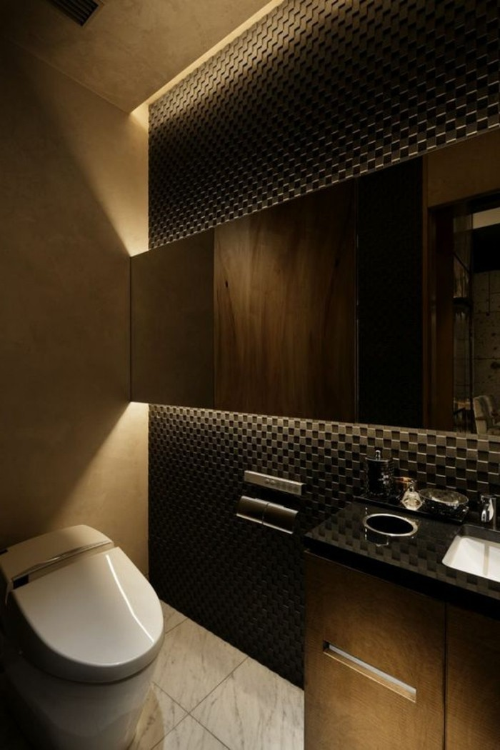 Stunning photo de toilette moderne ideas for Salle de bain luxe