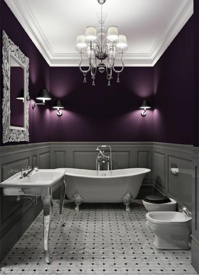 80 id es d 39 int rieur pour associer la couleur prune - Meuble de salle de bain aubergine ...