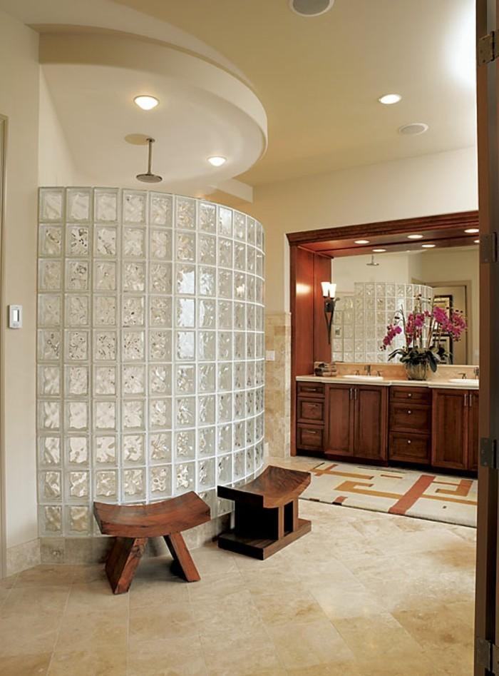 Le pav de verre voir les meilleures id es for Jolie salle de bain moderne