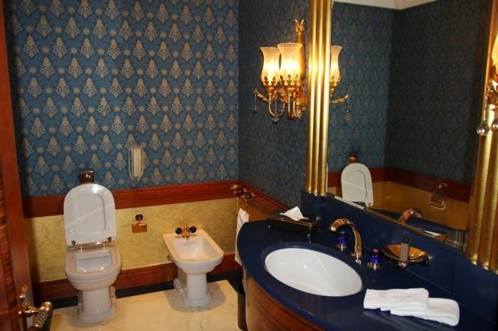 Salle De Bain Jaune Et Bleu : salle-de-bain-orientale-meuble-salle-de ...