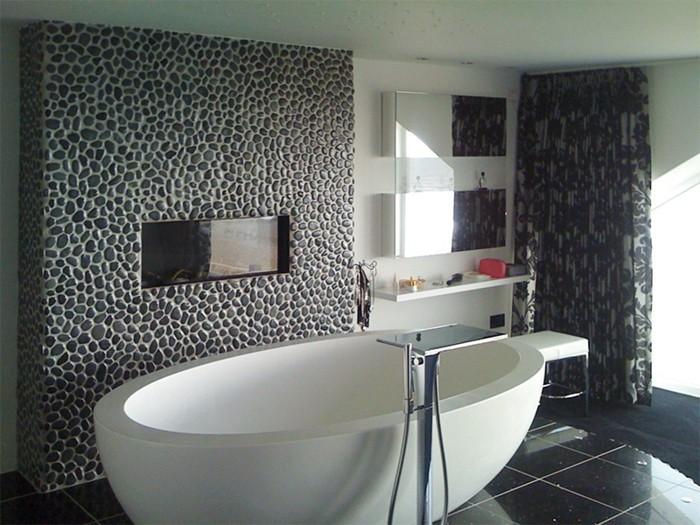 Le carrelage galet pratique rev tement pour la salle de bain - Galet salle de bain ...