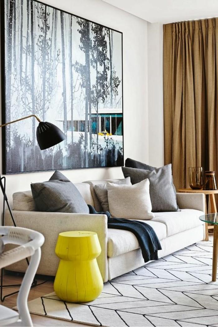 salon-beige-de-couleur-taupe-comment-associer-les-couleurs-dans-le-salon-comment-associer-les-couleurs-d-intérieur