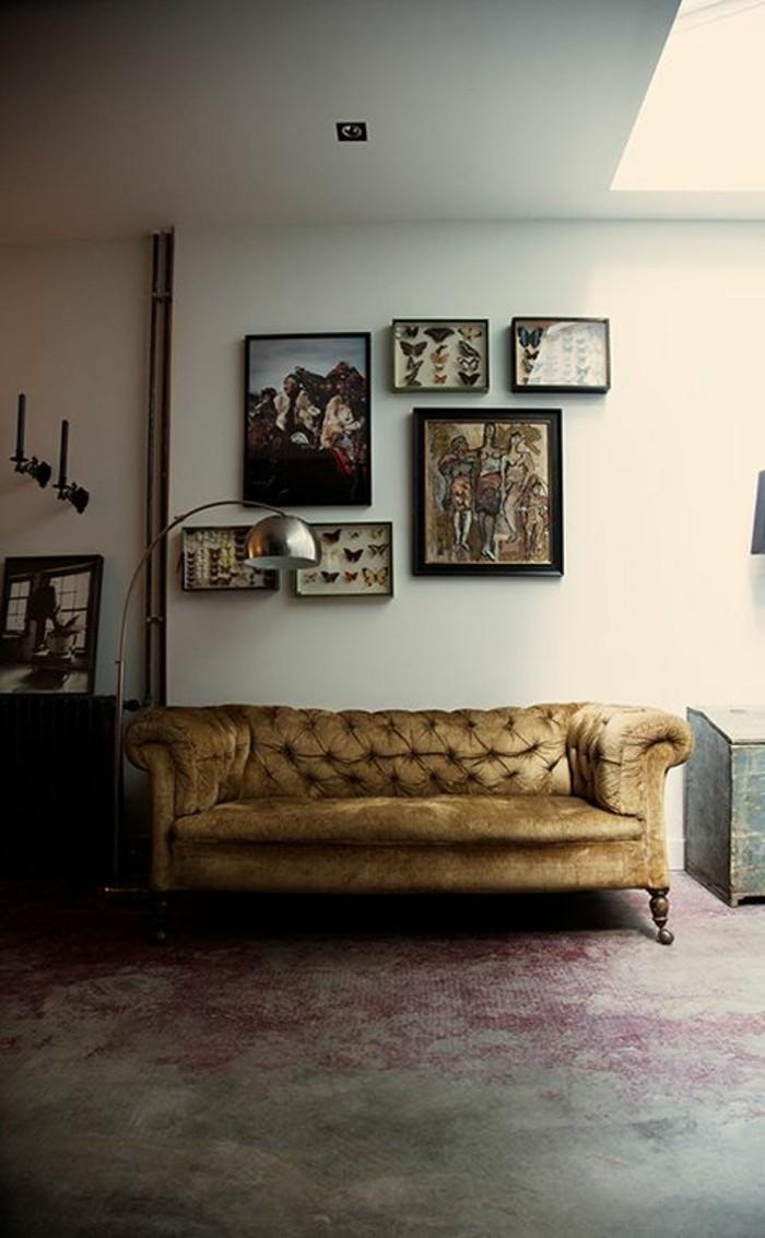 Le canapé capitonné en 40 photos, pleines d'idées