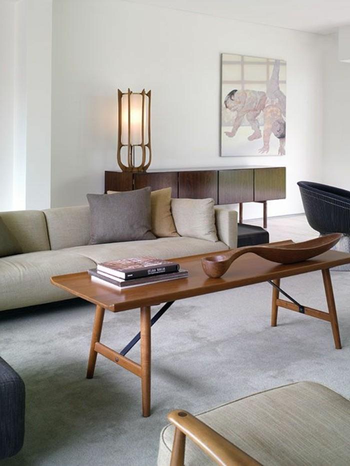 salon blanc beige bois id e inspirante pour la conception de la maison. Black Bedroom Furniture Sets. Home Design Ideas