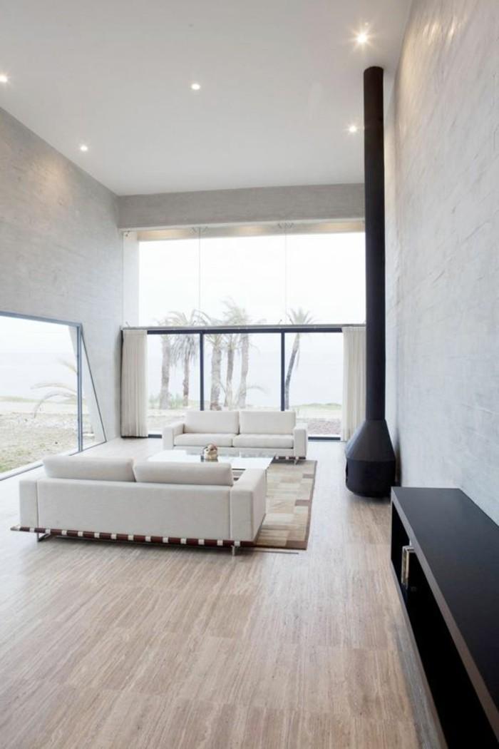 salon-de-couleur-taupe-comment-associer-les-couleurs-d-intérieur-salon-sol-en-parquet-clair