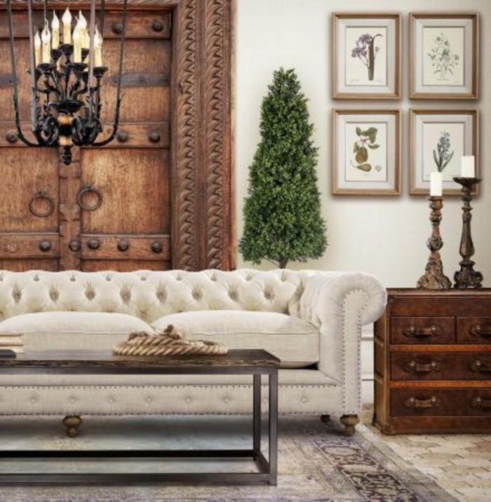 salon-de-luxe-avec-canapé-chesterfield-pas-cher-de-couleur-beige-meubles-capitonnes-pas-cher