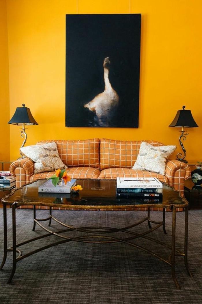peinture mur salon jaune pr l vement d 39 chantillons et une bonne id e de. Black Bedroom Furniture Sets. Home Design Ideas