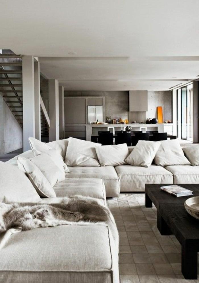 salon-meubles-gris-clair-carrelage-de-salon-couleur-complémentaire-du-beige-couleur-peinture-salon